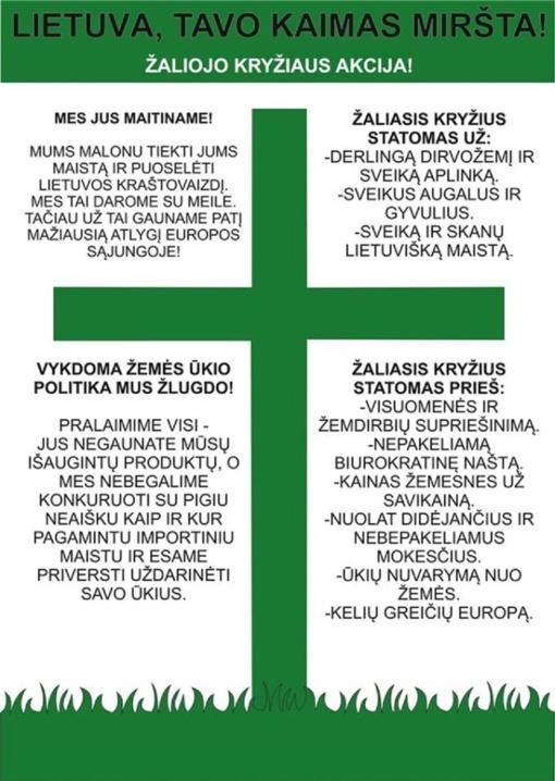 """Rajone taip pat vyksta """"Žaliojo kryžiaus"""" akcija"""