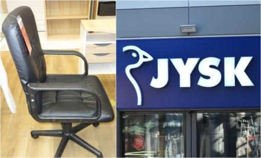 """""""Jysk"""" uždrausta rinkai tiekti nesaugias darbo kėdes"""