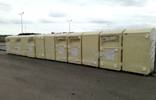 Radviliškio rajone pastatyta 12 naujų tekstilės atliekų surinkimo konteinerių
