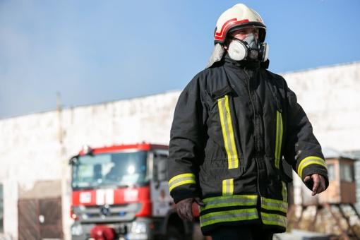 Kretingos rajone dega pastatas