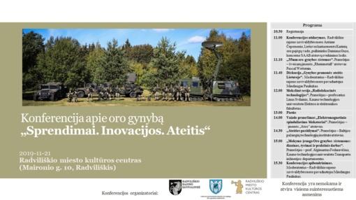 Apie oro gynybos dabartį, inovacijas ir ateities sprendimus – konferencijoje Radviliškyje