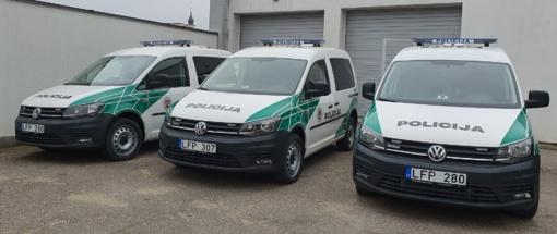 """Marijampolės apskr. VPK automobilių parką papildė 11 naujų """"VW Caddy"""""""