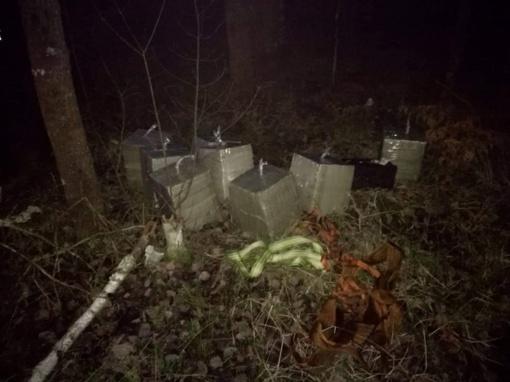 Cigaretes sulaikė Druskininkų pasieniečiai, kontrabandininkus – Baltarusijos pareigūnai
