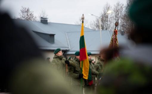 Karaliaus Mindaugo husarų batalione minėta Lietuvos kariuomenės diena