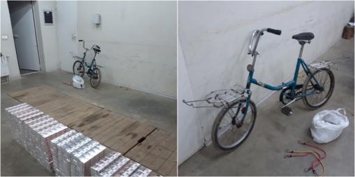 Kontrabandinius rūkalus baltarusiai vežė senu dviračiu
