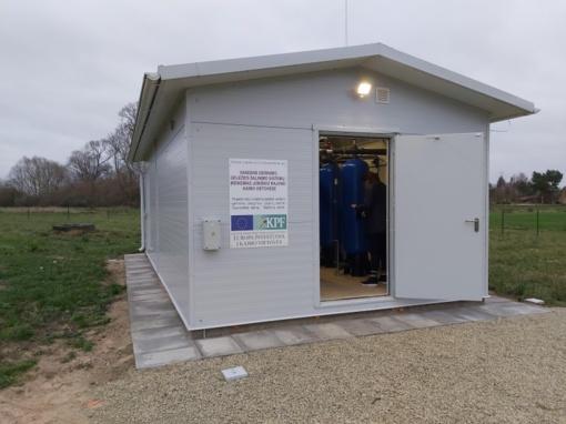 Nauji vandens gerinimo ir geležies šalinimo įrenginiai Joniškio kaimiškose vietovėse