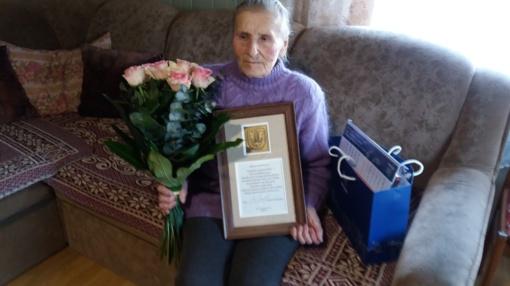 Aldonai Kupčiūnienei - sveikinimai 90-mečio proga