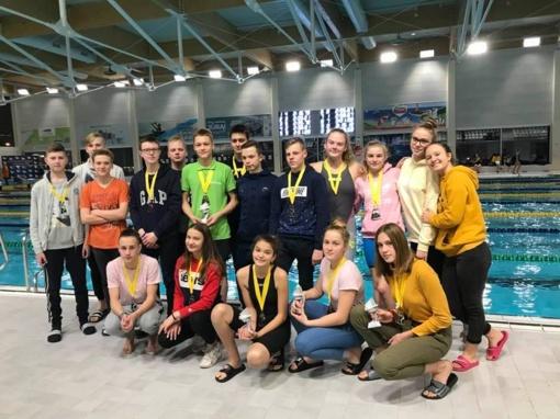 Tarptautinėse plaukimo varžybose šiauliečiai pasiekė aukštų rezultatų