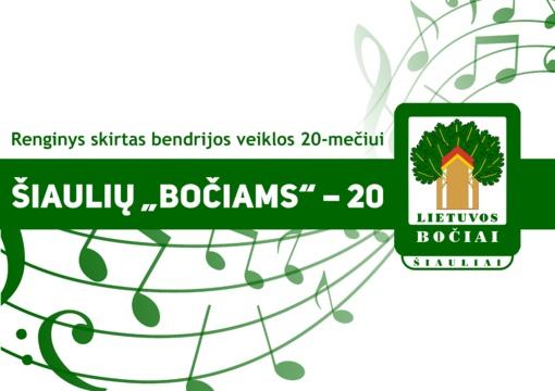 """Renginys Šiaulių """"Bočių"""" veiklos 20-mečiui paminėti"""