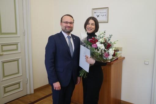 Operos solistei A. Grigorian įteikta Kultūros ministerijos premija