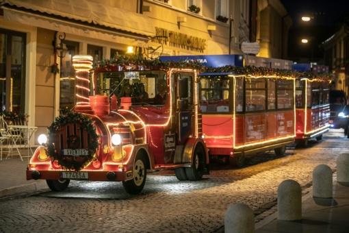 Vilniuje kursuos Kalėdų traukinukas