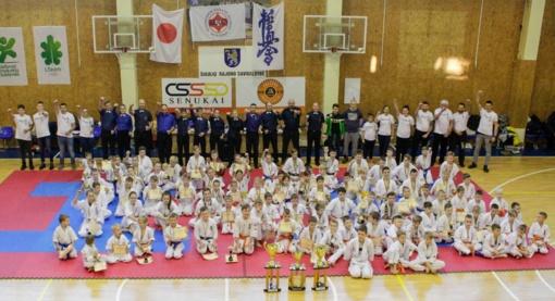 Tarptautinio kiokušin karatė turnyro nugalėtojų taurė liko Kuršėnuose