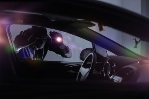 """Pasieniečiai sulaikė, įtariama, vogtą prabangų """"Mercedes–Benz"""" automobilį"""