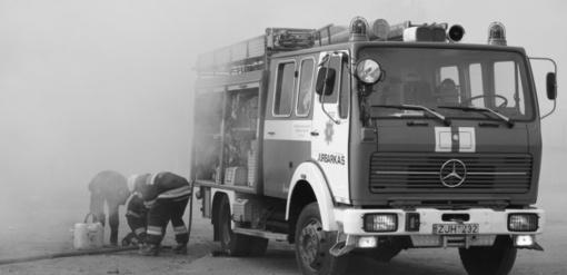 Savaitgalis Jurbarke ugniagesiams buvo darbingas