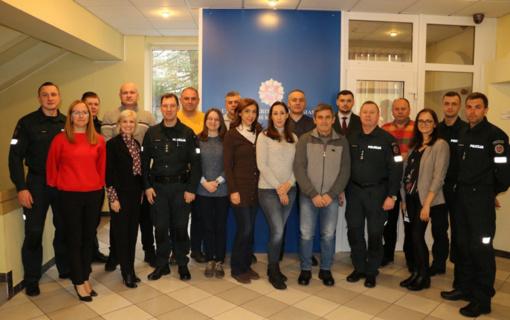 Užsienio pareigūnų darbinis vizitas Utenos policijoje