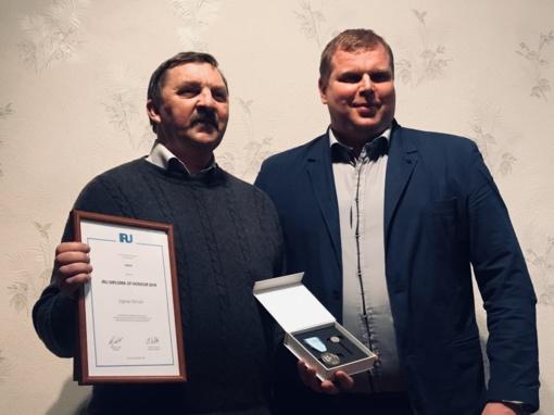 Vairuotojui įteiktas išskirtinis apdovanojimas