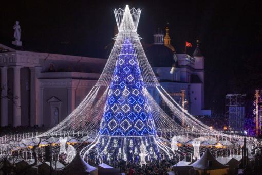 Vilniaus Kalėdų eglė – tarp pačių gražiausių pasaulyje