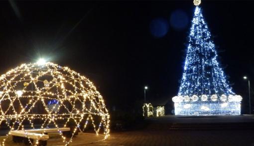 Šventų Kalėdų laukimas Molėtuose jau kupinas šventinės nuotaikos