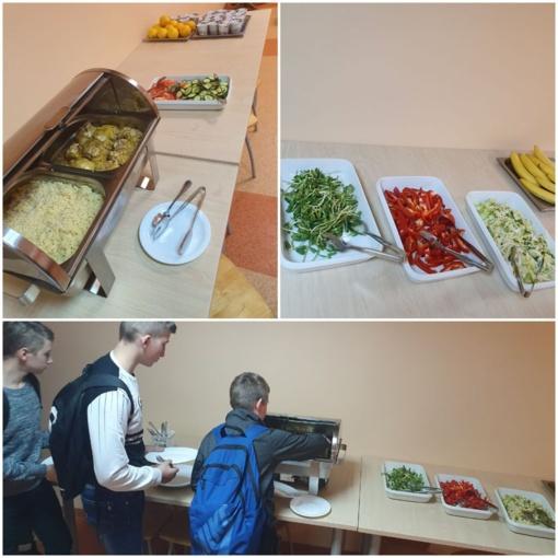 Naujovė Kuršėnų Daugėlių mokyklos valgykloje – Švediškas stalas