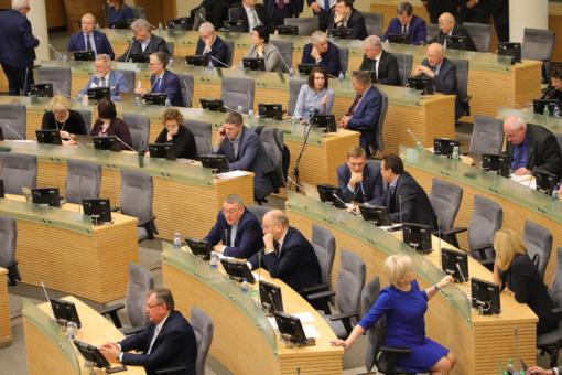 Seime svarstomas patobulintas kitų metų biudžeto projektas