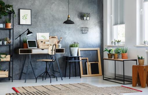 Įsirenkite darbo kambarį namuose