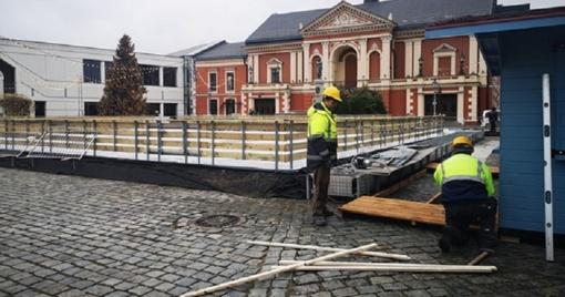 Dėl lietaus atidėtas čiuožyklos Klaipėdoje atidarymas