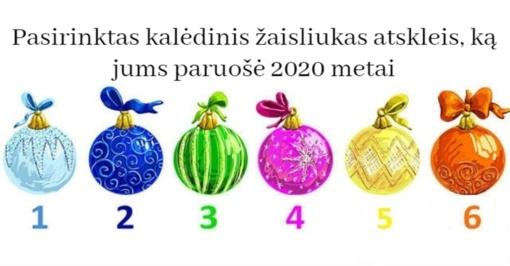 Pasirinktas kalėdinis žaisliukas atskleis, ką jums paruošė 2020 metai