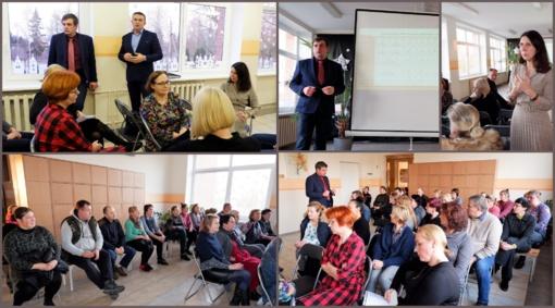 Biržų rajono savivaldybė susitiko su Pačeriaukštės Petro Poškaus pagrindinės mokyklos bendruomene