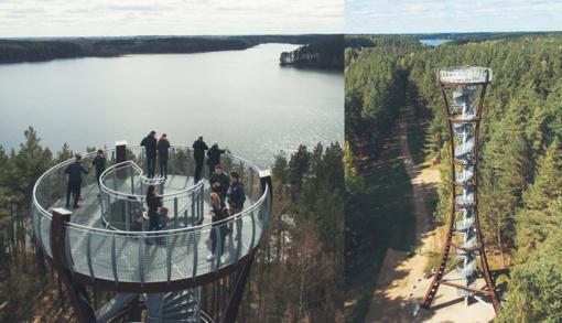 Labanoro apžvalgos bokšto prieigos tapo gražesnės ir patogesnės