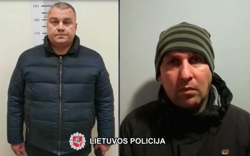Sulaikyti du baltarusiai, apvogę automobilius