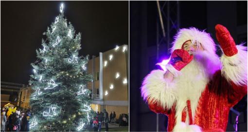 Ukmergiškiai įžiebė kalėdinę eglutę