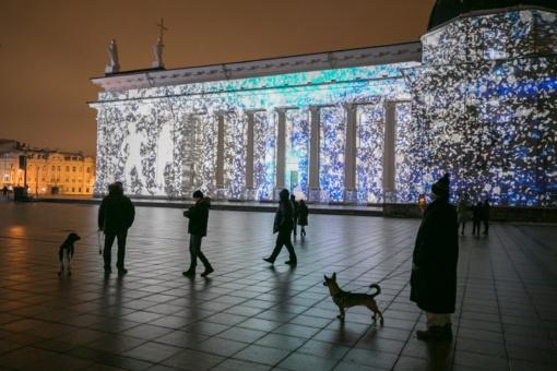 Šv. Kalėdų vakarą - nauja 3D pasaka ant Vilniaus katedros sienos