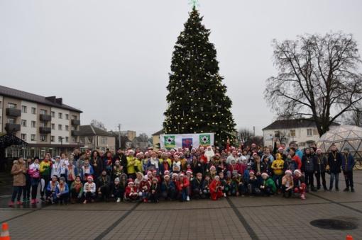 Pirmajame Vilkaviškio kalėdiniame bėgime – daugiau nei 200 dalyvių