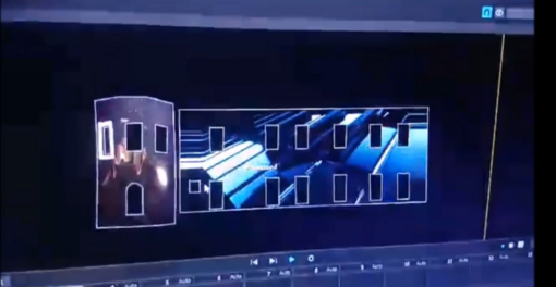 Animuotos projekcijos ant Druskininkų savivaldybės pastato