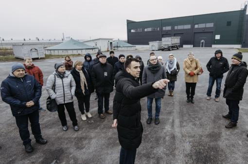 Ąžuolinės biodujų jėgainėje – svečiai iš Lenkijos