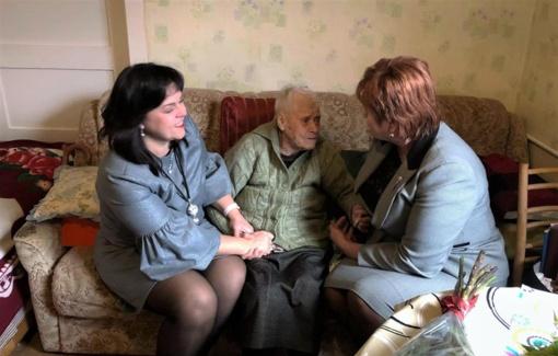 Šimtametei Jadvygai Mejerienei – sveikinimai jubiliejaus proga