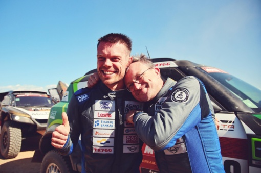 """""""Agrorodeo"""" ekipažas laimėjo pirmąjį 2020-ųjų metų Dakaro etapą"""