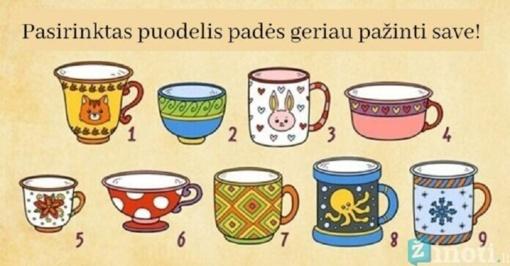 Testas: pasirinktas puodelis padės geriau pažinti save