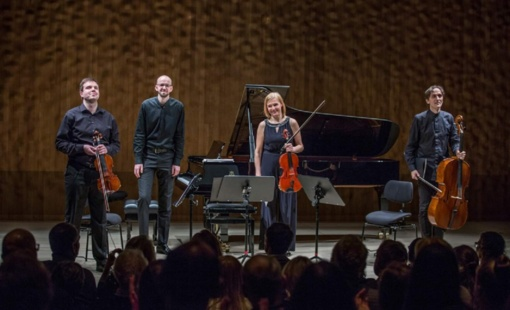 """Fortepijoninis kvartetas """"Confero"""" debiutavo Hamburge, vienas iš jų – širvintiškis U. Pauliukonis"""