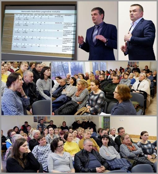Aštri diskusija dėl Nemunėlio Radviliškio pagrindinės mokyklos likimo