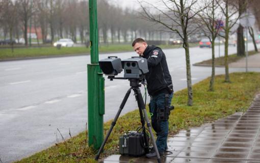 Mobilieji greičio matuokliai Klaipėdoje jau dirba visu pajėgumu