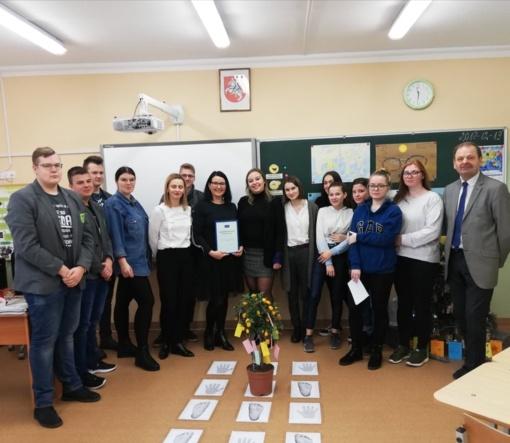 2019 ateities mokytojo titulas – Gruzdžių gimnazijos pedagogei