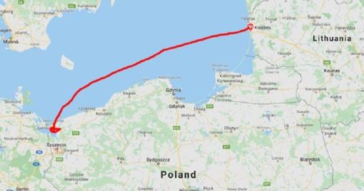 Vasarį numatoma paleisti keltą tarp Ščecino ir Klaipėdos