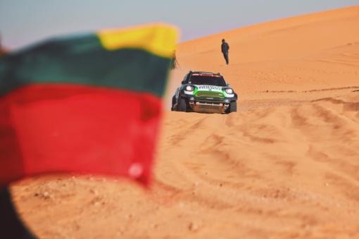 """""""Agrorodeo"""" komandai ilgiausias Dakaro ralio greičio ruožas neprailgo"""
