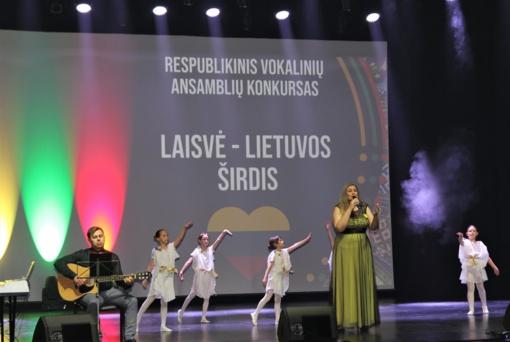 """Respublikinis vokalinių ansamblių konkursas """"Laisvė – Lietuvos širdis"""" Joniškyje"""