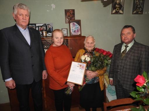 Pasveikinta 90-metė Janina Veronika Jakubauskienė
