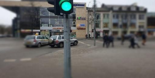 Šviesoforo gedimas Šiaulių miesto centre
