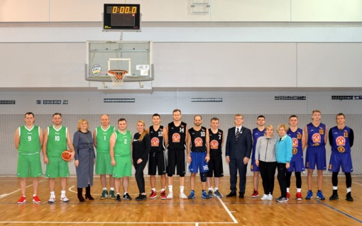 Po remonto darbų atidaryta Šilalės Simono Gaudėšiaus gimnazijos sporto salė