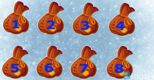 Linksmas testas: atspėkite, kuriame maiše paslėptos auksinės monetos?