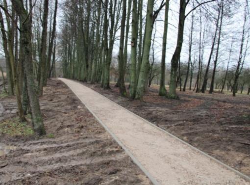 Marijampolės Pašešupio parko tvarkymo darbai vis dar vyksta